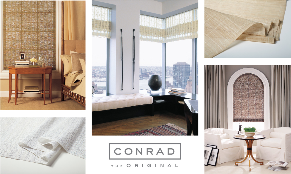 A gallery of CONRAD handcrafted window  coverings